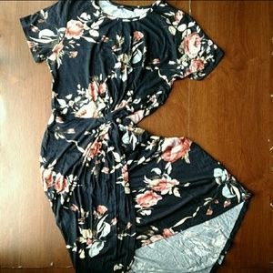 NEW Sweet Claire midi tulip dress navy pink floral